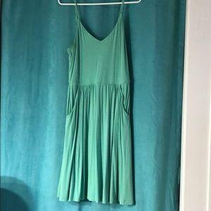 Cynthia Rowley Green Spaghetti Strap Dress